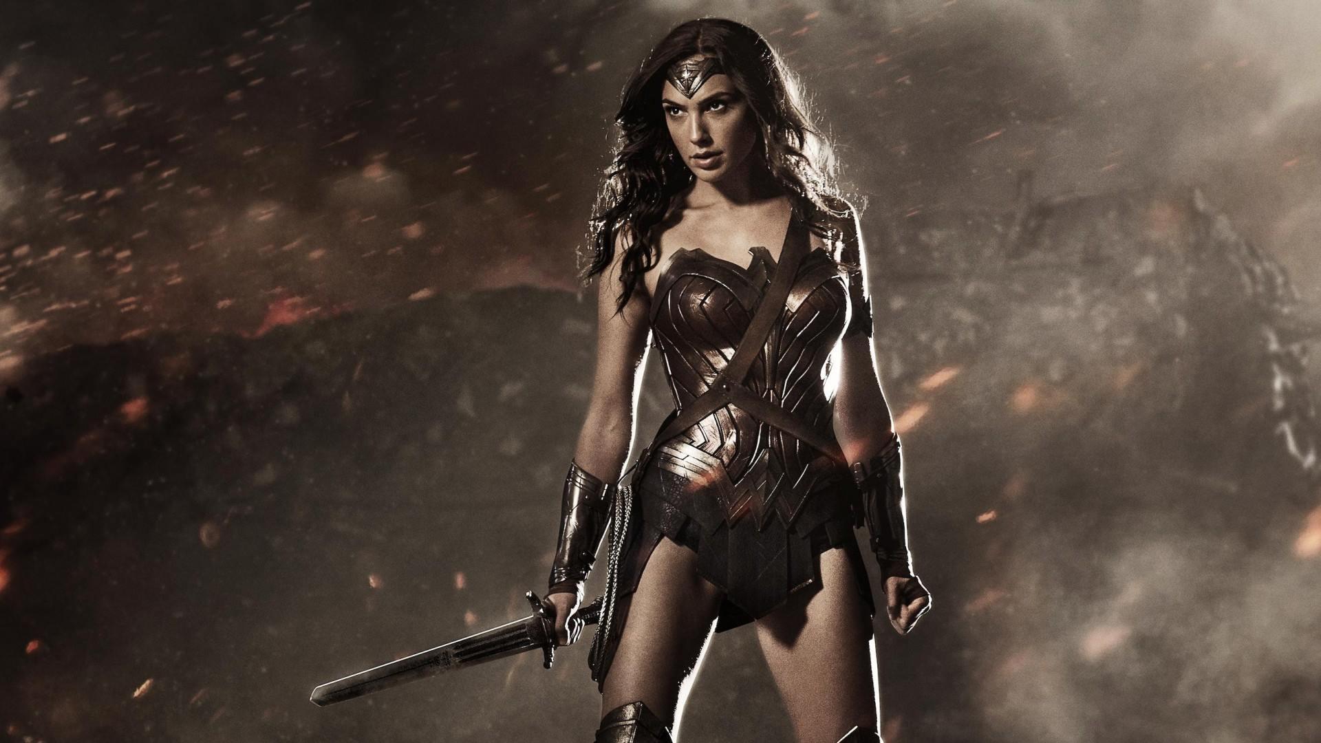 Imagem do filme Mulher-Maravilha (ou Wonder Woman). Na imagem, a atriz Gal Gadot interpreta a heroína.