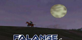 Imagem da Edição do Falange Relembra dedicada a The Legend of Zelda Ocarina of Time. A imagem mostra link cavalgando por Hyrule, com a logo do Falange Relembra sobre a imagem.