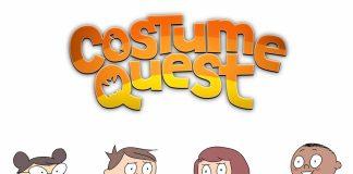 Imagem da série animada Costume Quest, baseada no jogo de mesmo nome. No jogo, crianças usam fantasias de Dia das bruxas mágicas para lutar contra goblins.