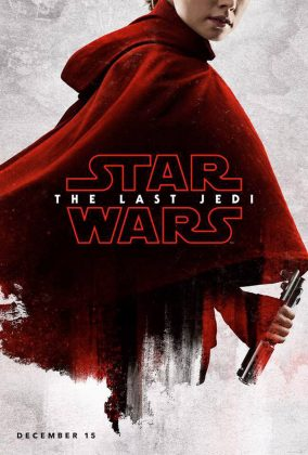 Rey de vermelho no pôster do filme Star Wars The Last Jedi, Último Jedi