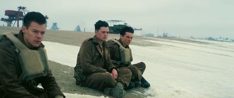 Imagem de 'Dunkirk', do diretor Christopher Nolan, filmado em 70 mm, que se passa na Segunda Guerra Mundial.