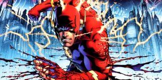 Capa da revista 'Flashpoint', em que as viagens temporais do Flash criam uma realidade paralela.