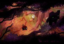 Arte de transição de fases de Shadow Bug, primeiro jogo de Muro Studios