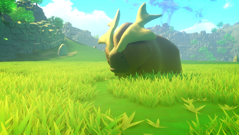 Um dos animais do jogo indie Yonder The Cloud Catcher Chronicles