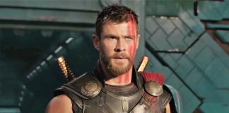 Thor no filme do Thor chamado Ragnarok. Thor: Ragnarok.