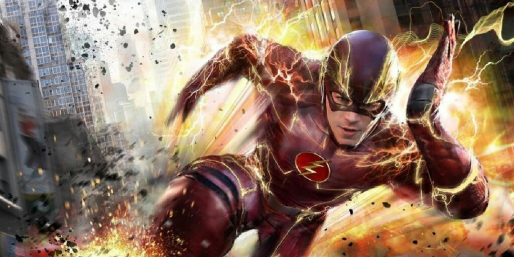 Barry Allen, o Flash, interpretado por Grant Gustin no seriado da CW.