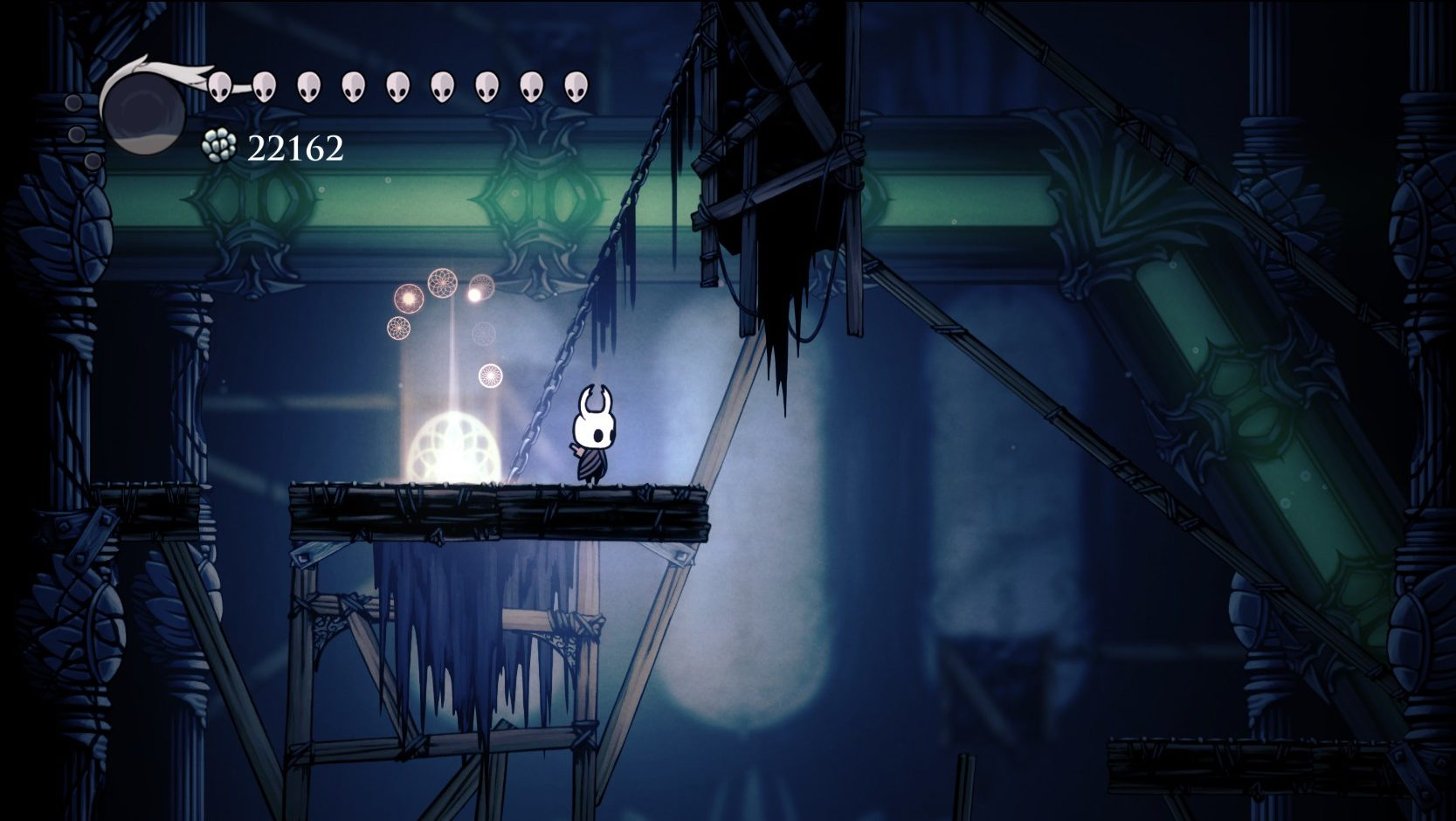 Imagem do portal de sonhos em Hidden Dreams, DLC de Hollow Knight, Metroidvania da Team Cherry