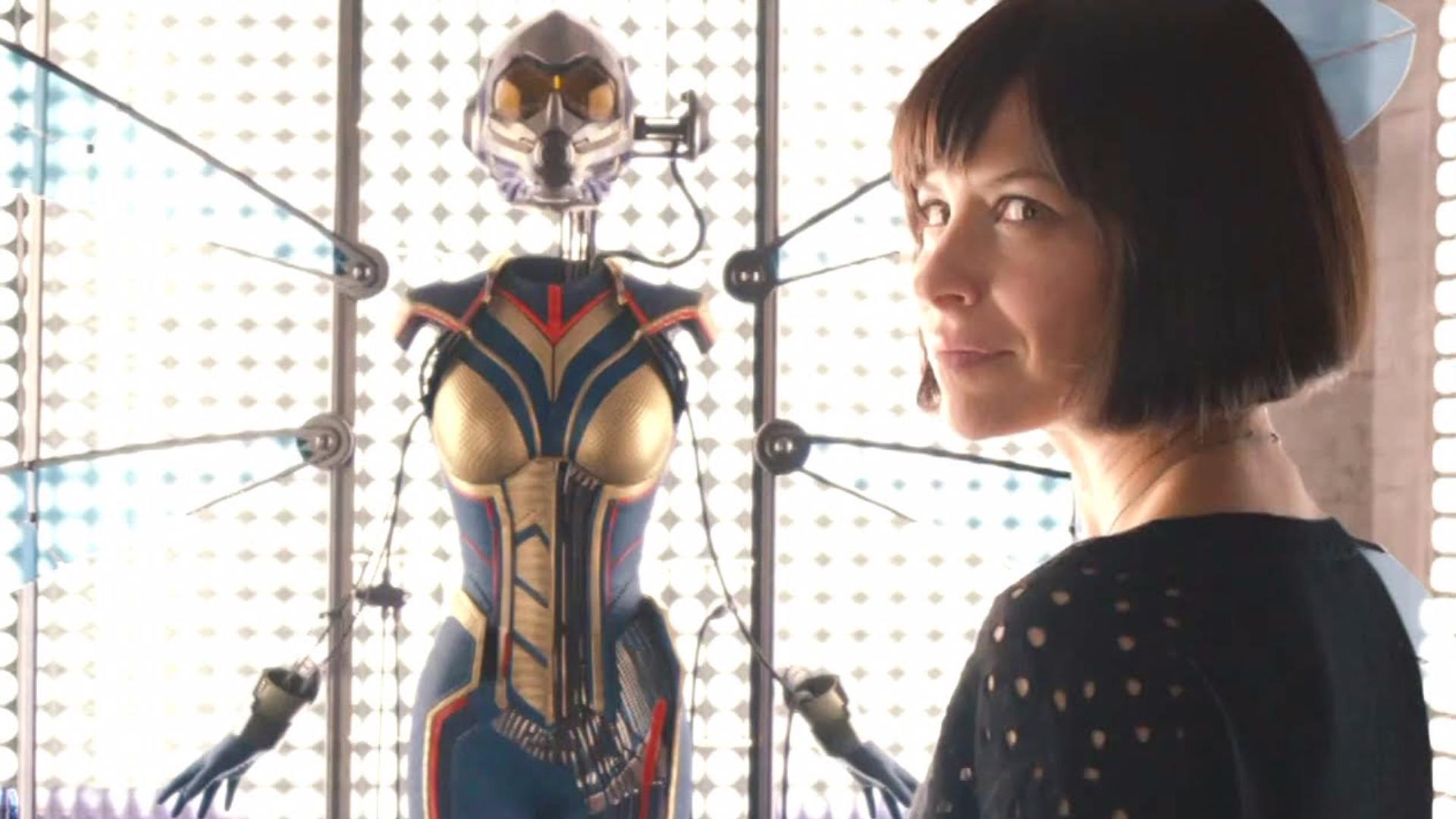 Evangeline Lilly é Hope van Dyne, a Vespa, no Universo Cinematográfico da Marvel.