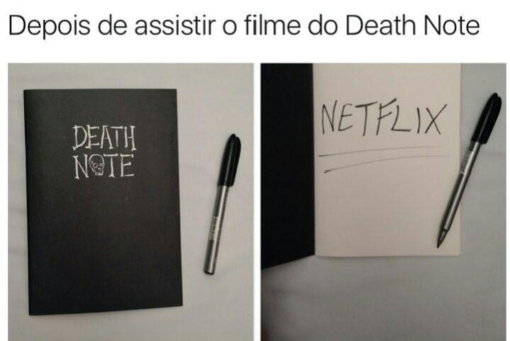 Meme da adaptação da Netflix do anime Death Note