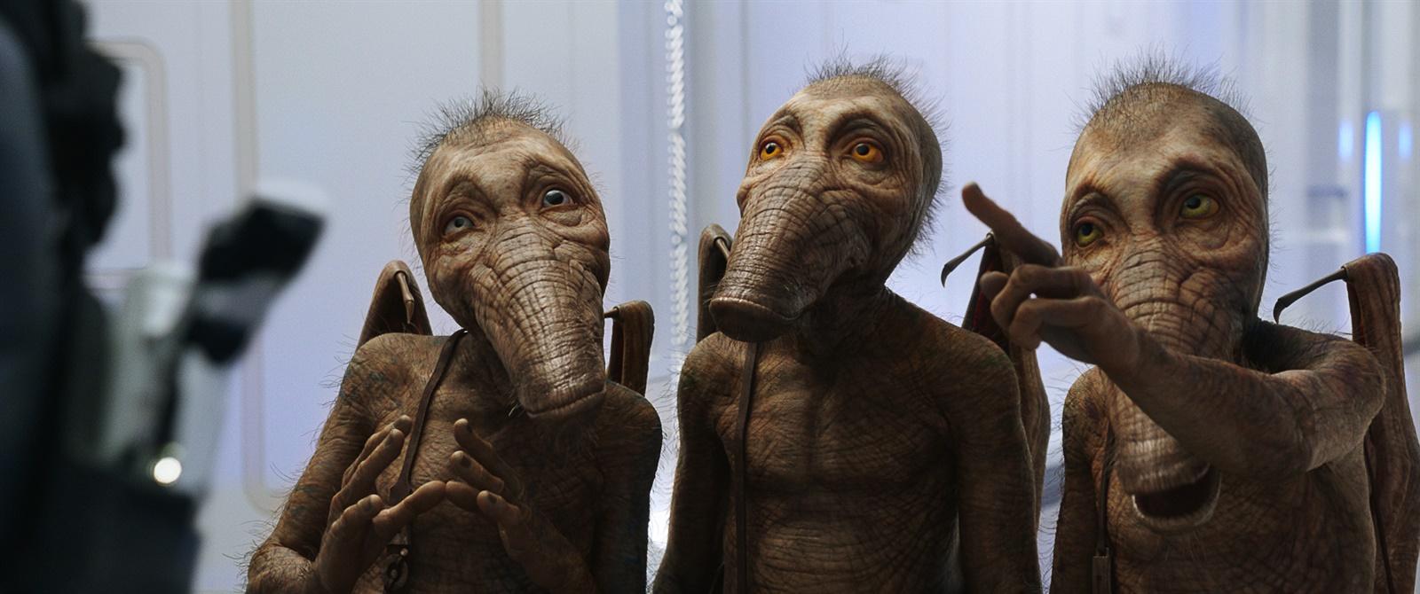 Os Doghan Daguis, criaturas de 'Valerian e a Cidade dos Mil Planetas', o filme de Luc Besson adaptado dos quadrinhos de Valerian e Laureline.
