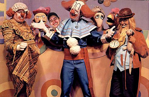 Bozo, junto com Vovó Mafalda e Papai Papudo.