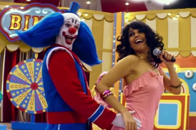 Bingo e Gretchen, no filme Bingo - O Rei das Manhãs, inspirado no palhaço Bozo da década de 80.