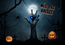 Imagem oficial do Mês das bruxas na Falange.