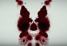 Imagem de divulgação de Mindhunter, a nova série de David Fincher para a Netflix. A imagem mostra uma mancha de tinta, como um teste psicológico de Rorschach.