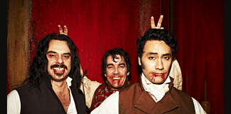 Imagem do filme O Que Fazemos nas Sombras, ou What we Do in the Shadows.