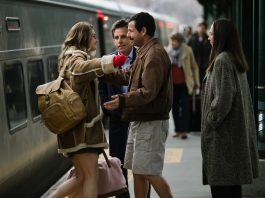Imagem do filme Os Meyerowitz - Fam[ilia n'ao se escolhe, ou The Meyerowitz Stories, parte do Festival do Rio de 2017. A imagem mostra pessoas se reencontrando em uma estação de trem.