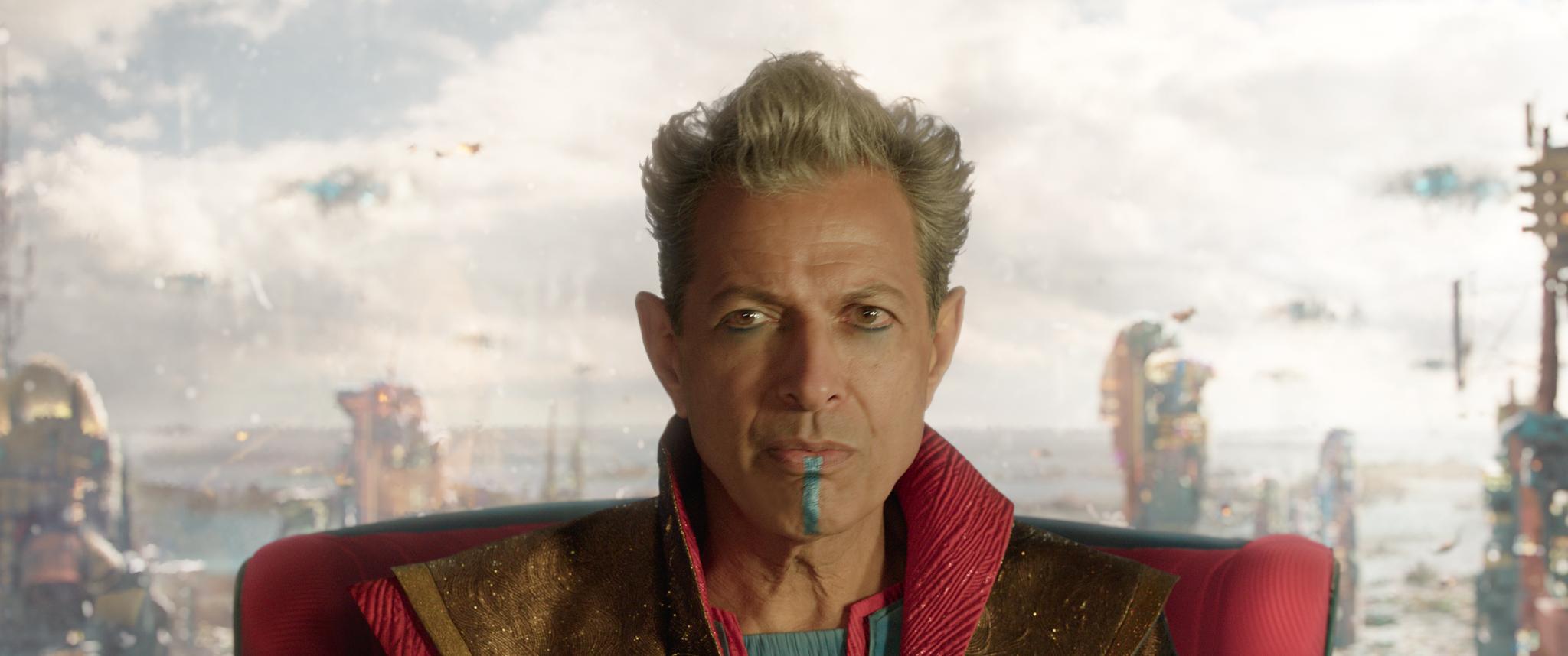O Grão Mestre de Sakaar, vivido por Jeff Goldblum