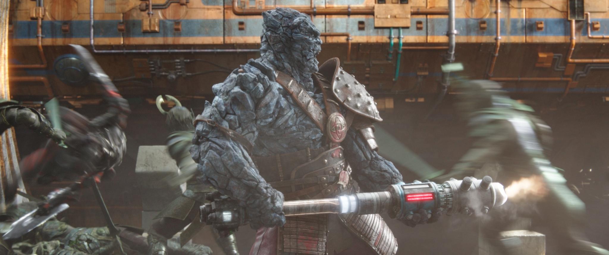 Korg, um dos lutadores do Coliseu de Sakaar