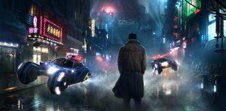 imagem de Blade Runner 2049 mostra Ryan Gosling diante de uma cidade futurística