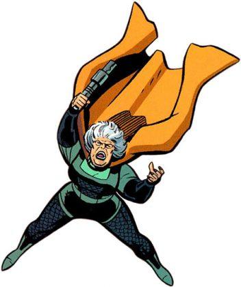 Vovó Bondade (Granny Goodness), integrante dos Novos Deuses da DC. A Vovó cuida dos orfanatos de Apokolips, treinando as novas gerações de guerreiros a serviço de Darkseid. Vovó Bondade não exita em torturar suas crianças até que elas se tornem tão cruéis quanto ela.