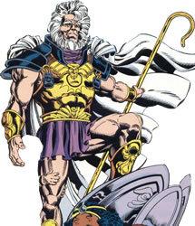 Izaya, o Pai Celestial (Highfather), integrante dos Novos Deuses da DC. Líder de Nova Gênese, Izaya deu seu filho Scott Free para Darkseid como uma garantia de que manteria sua palavra e não iria mais interferir com Apokolips. Em troca, adotou Órion, o filho de Darkseid.