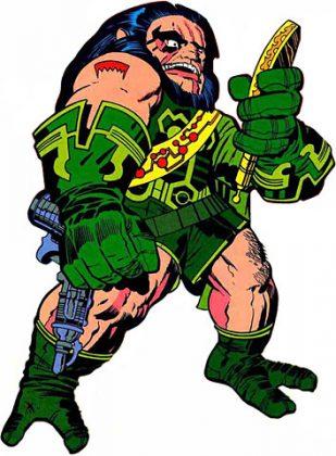 Kalibak, integrante dos Novos Deuses da DC. Filho mais velho de Darkseid, também conhecido como O Cruel. Kalibak, ao contrário da maioria dos Novos Deuses, apresenta um intelecto inferior, o que o faz querer provar seu valor diante de seu pai a qualquer custo.
