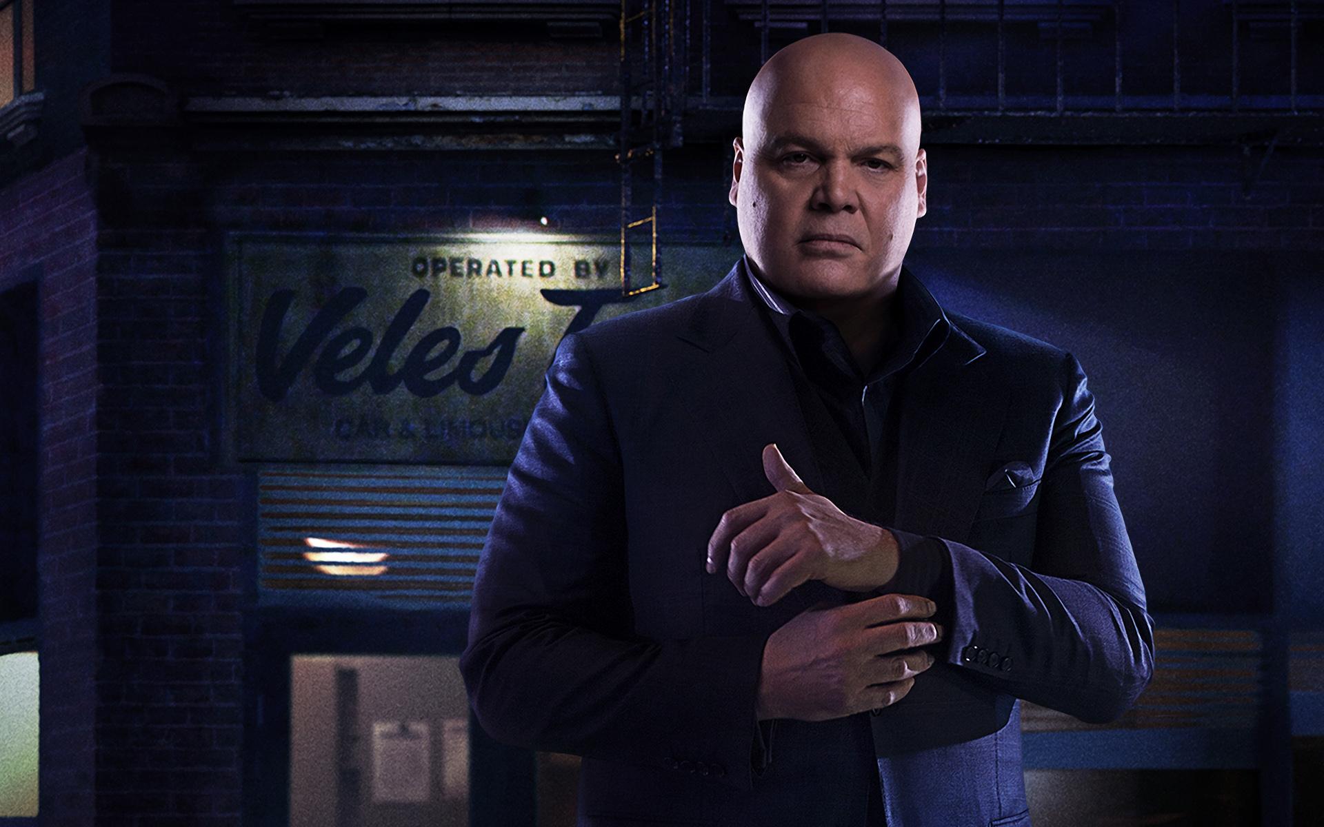 Vicent D'Onofrio como o Rei do Crime, ou Kingpin, na série Demolidor, ou Daredevil, da Marvel com a Netflix.