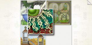 Imagem do jogo independente de puzzle Gorogoa, desenhado à mão e desenvolvido por Jason Roberts.