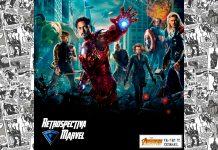 Imagem para Os Vingadores, ou The Avengers, mostra os super-heróis reunidos no pôster da aventura