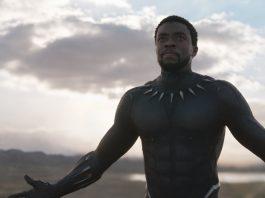 Imagem para Cinema 2018 mostra Chadwick Boseman caracterizado como o personagem-título de Pantera Negra